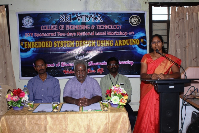 ISTE EMBEDDED SYSTEM DESIGN USING ARDUINO workshop - 5th & 6th Jan 2018