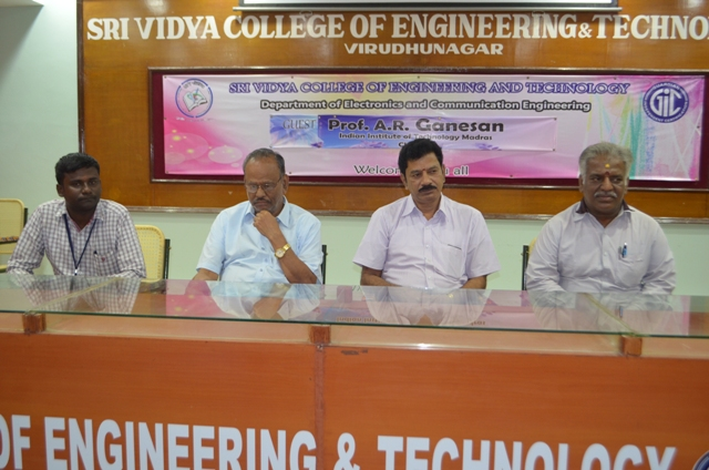 Prof.A.R.Ganesan, IIT Madras, Guest Lecture