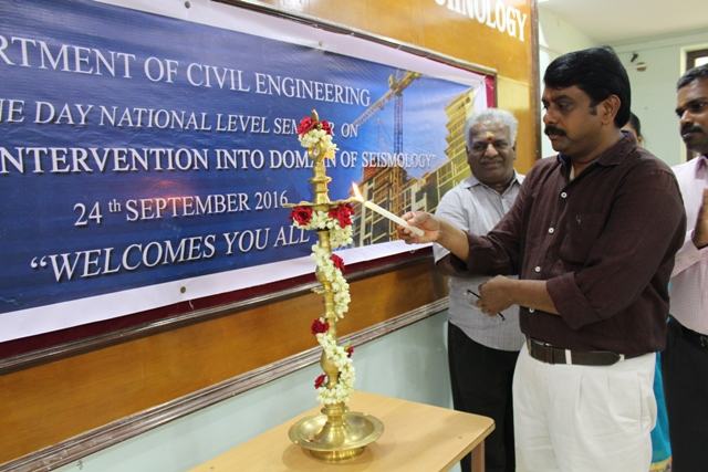 National Level Seminar on Intervention into Domain of Seismology  on 24.09.2016