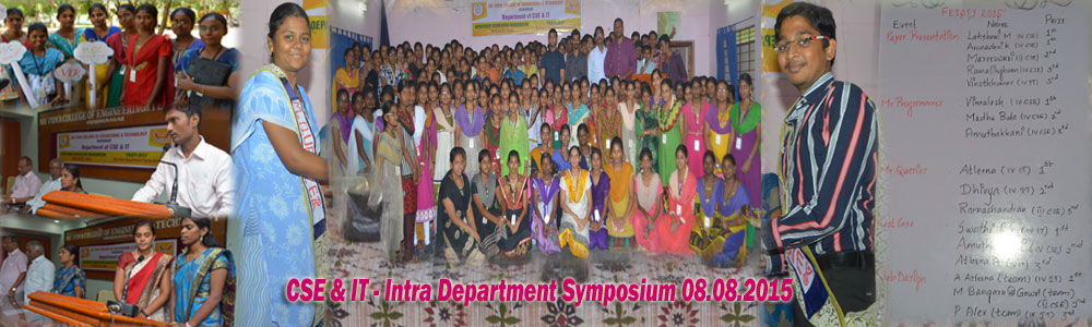 CSE & IT Intra Dept Symposium