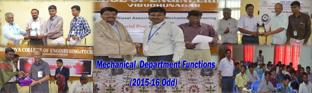 Mechanical Department Function