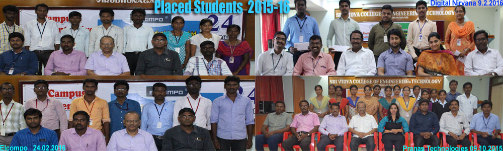 Placed Students - 2015-16